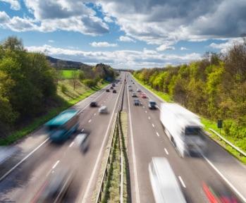 Walkers Transport - Image of haulage trucks on the motorway